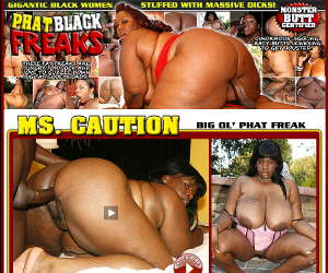 Gigantic black woman stuffed with massive dicks!
