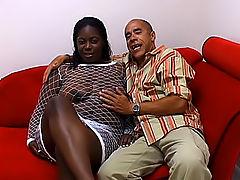 Black BBW satisfies a cock with her twat
