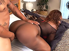 Big black booty with a dick stuck in it