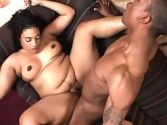 Bronzed fatty fucking hard with black stud in ebony sex movs