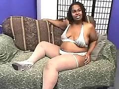 Enormous fat lady with big boobs satisfy black men