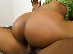 Slutty chick from the hood opens her black snatch up wide to take a humongous black boner deep inside of it