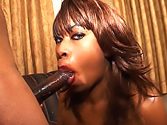 His cock drips cum in her mouth after fucking her black box