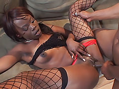 Ashley Brooks can do a lot with her hot black body, especially when it comes to making big dicks erupt for her
