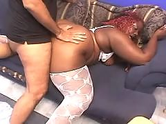 Ebony chubby honey fucking hard with dude in ebony XXX videos
